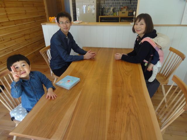飛騨で育った山桜テーブル 椅子