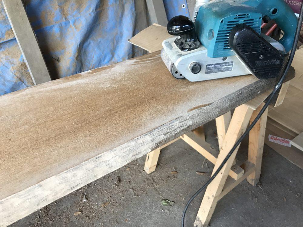 お客様のベンチを修理・再生